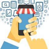 Digital commerce illustration Royalty Free Stock Photos