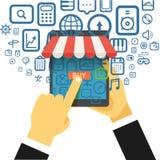Digital commerce illustration Stock Image