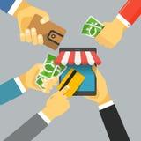 Digital commerce illustration Royalty Free Stock Images