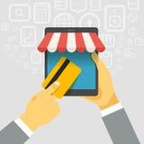 Digital commerce illustration Stock Photos