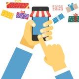 Digital commerce illustration Royalty Free Stock Photo