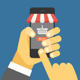 Digital commerce illustration Stock Photography
