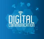 Digital communication design Royalty Free Stock Image