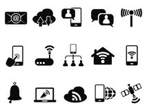 Digital communication icons set Stock Image