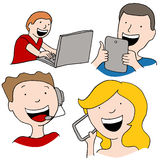 Digital Communication Royalty Free Stock Photography