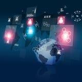 Digital Communication Technology Interface Royalty Free Stock Images