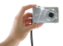 Digital compact camera Stock Photos