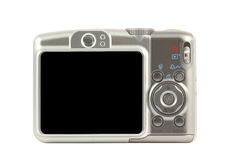 Digital compact camera back side Stock Images
