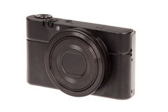 Digital compact camera isolated Stock Image