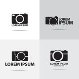 Digital compact camera logo Royalty Free Stock Photos