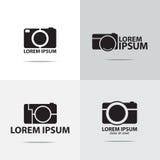 Digital compact camera logo. Four different digital compact camera logo design Royalty Free Stock Photos