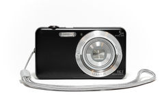 Digital compact camera with strap Stock Photo