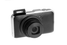Digital compact photo camera Stock Images