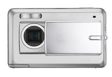 Digital compact photo camera isolated. On white Stock Photography