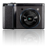 Digital compact photo camera  on white background Stock Photos