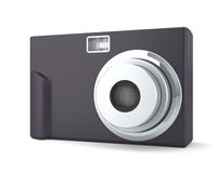 Digital Compact Photo Camera on the White Stock Photo