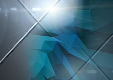 Abstract transition with polygons. Digital composite of Abstract transition with polygons Royalty Free Stock Photo
