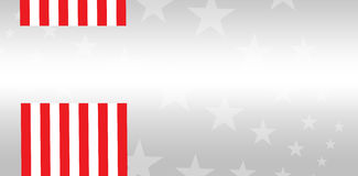 Digital composite of American flag. With starry background Royalty Free Stock Photos