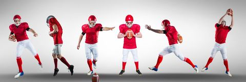 American football players wide. Digital composite of american football players wide Royalty Free Stock Photos