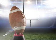 American football in stadium. Digital composite of american football in stadium Stock Images