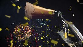 Wine and fireworks royalty free illustration