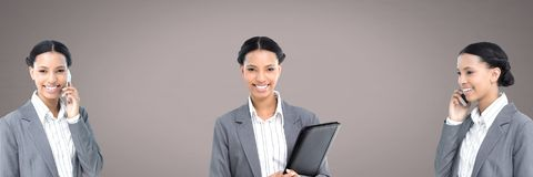 Businesswoman in sequence royalty free stock photos