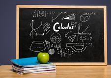 Calculus on blackboard Stock Image