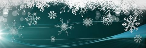 Christmas snowflakes. Digital composite of Christmas snowflakes Royalty Free Stock Images