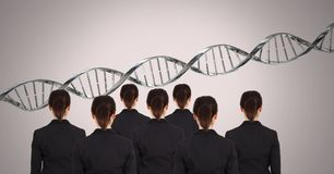 Clone women with genetic DNA. Digital composite of Clone woman with genetic DNA stock photo