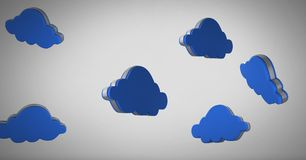 3D clouds floating Stock Photos