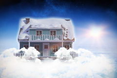 Digital composite of 3d house Stock Photo