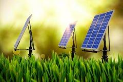 Digital composite of 3d solar panel Stock Image