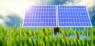 Digital composite of 3d solar panel Stock Photography