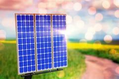 Digital composite of 3d solar panel Royalty Free Stock Photos