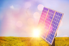 Digital composite of 3d solar panel. Against graphic background Stock Photo