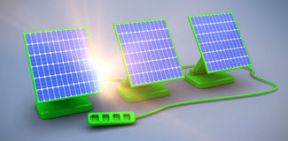 Digital composite of 3d solar panel Royalty Free Stock Photography