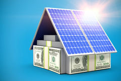 Digital composite of 3d solar panel Stock Image