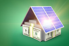 Digital composite of 3d solar panel Stock Photos