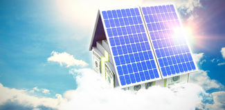 Digital composite of 3d solar panel Royalty Free Stock Image