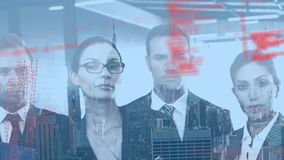 Program codes and business people stock footage