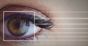 Eye focus box detail and lines Stock Images