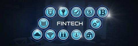 Fintech various business icons. Digital composite of Fintech various business icons Stock Images