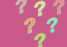 Funky cool colorful question mark. Digital composite of funky cool colorful question mark Stock Photo