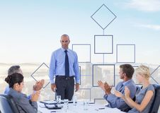 Group meeting with mind map Royalty Free Stock Image