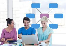 Group meeting with mind map Royalty Free Stock Images