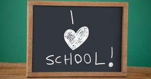 I love school Education drawing on blackboard. Digital composite of I love school Education drawing on blackboard royalty free stock photography