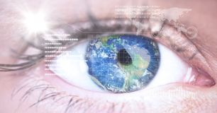 Digital composite image of eye interface Royalty Free Stock Image