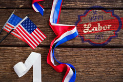 Composite image of digital composite image of happy labor day banner Stock Photography