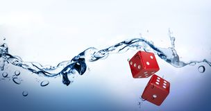 Composite image of digital composite image of red dice Royalty Free Stock Image