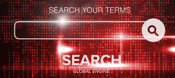 Composite image of digital composite image of search engine logo Royalty Free Stock Photo
